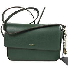DKNY Leather Crossbody Bag Dark Green Bryant Medium Flap Purse