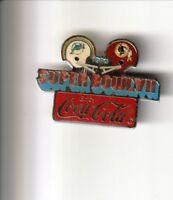 Vintage NFL Super Bowl VII Coke coca cola pin lapel  1973 Dolphins Red Skins