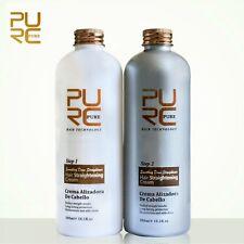 New PURE Hair Straightening Cream Set Keep Hair Shiny Suppleness Long Protection