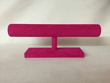 Extra Long Bangle / Bracelet Jewellery display Stand cerise pink *Made in the UK