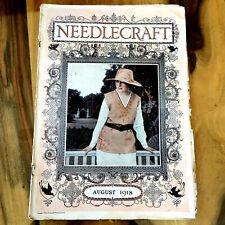 Needlecraft August 1918 Nice old ads