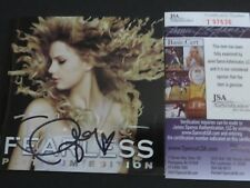 TAYLOR SWIFT SIGNED FEARLESS PLATINUM EDITION CD COVER JSA AUTHENTICATED