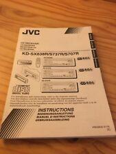 JVC KD SX838R S737R S707R autoradio CD notice utilisation mode d' emploi