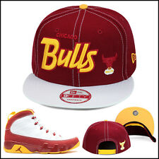 New Era Chicago Bulls Snapback Hat Cap For Jordan 9 Retro Bentley Crawfish Ellis