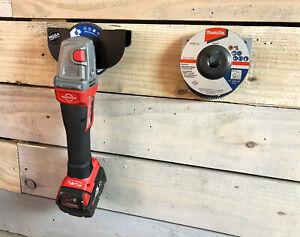 "4"" 100mm Angle Grinder Wall Bracket Tool Hook Holder Stand 1 - 4 Angle Grinders"