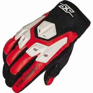 Speed And Strength Insurgent Leather Motorcycle Glove - Red/Black/White, All