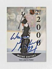 NHL LA Kings Wayne Gretzky 1990 Pro Set 2000th Point Autographed Hockey Card COA