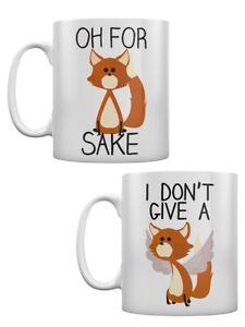Fox Sake Mugs - Set of 2 White Mug for Tea or Coffee Set