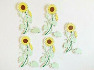 Sunflower Plants Floral Papercraft Embellishments Scrapbooking Card Making Craft