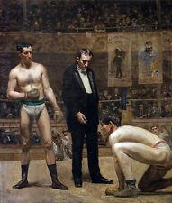 Thomas Eakins-prendendo il conteggio tela - 24'