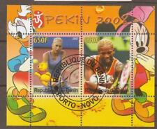 BENIN 2007 TENNIS/OLYMPICS (no3) SHEET FINE USED