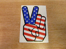 Peace Hand - sticker bomb decal 4in (100mm) - USA Flag America Stars +Stripes