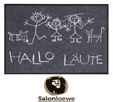 """Schmutzfangmatte 50 x 75 cm Fußmatte waschbar Salonlöwe EFIA """"Hallo Läute"""""""