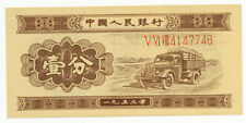 GENUINE CHINA 1953 1 FEN PICK 860a SERIAL NUMBER V VI VIII  4147748 - RARE!!!!!