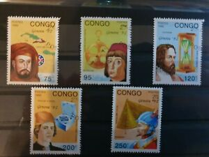 Congo 1992 Geneva 92 5 stamp set CTO