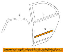 TOYOTA OEM 03-08 Corolla REAR DOOR-Body Side Molding Right 7574102170