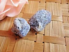 242-Lot de 2 cordiérites iolites brutes-Saphir d'eau 10grs-Chakras-Espoir-Stress