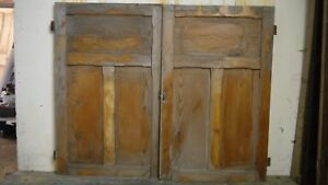C60 (58 3/4 x 47 1/2) Pair of Old Victorian Cupboard Doors from U.K finest