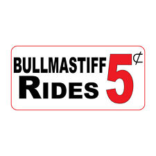 Bullmastiff Rides 5C Retro Vintage Style Metal Sign - 8 In X 12 In With Holes