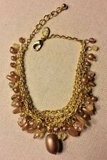 "PREMIER DESIGNS JEWELRY MASTERPIECE BRACELET 7 1/2"" + 1"" Gold & Beads 5502"