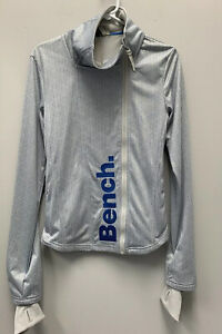NWT Bench Womens Blue/gray  Zip Up Brand New With Tags Small Ladies Warm Sweat
