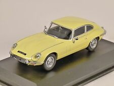 JAGUAR E TYPE V12 COUPE in Primrose Yellow 1/43 scale model by OXFORD DIECAST