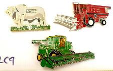 3 Farming Harvester Combine Bull Dist. 17NE NW & 35-I Lions Club Trading Pins