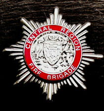 "CENTRAL REGION FIRE BRIGADE (SCOTTISH) CAP BADGE. Height 1-3/4"" (43mm)"