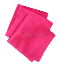 "50 Satin Table Napkin 12"" Wedding Banquet Celebration Handkerchief Decor Colors"