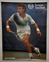 MATS WILANDER Purple Green Shirt Sergio Tacchini Tennis Poster Vintage (272)