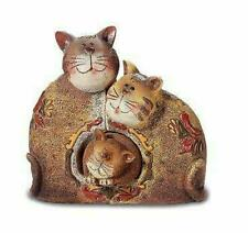 More details for comical family of cats figurine ornament cat ornament figurine decoration gift