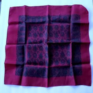 Liberty of London Paisley Pocket Square - Wine Red Paisley