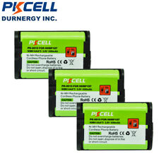 3 Cordless Home Phone Rechargeable Battery for Panasonic HHR-P107 HHRP107 PKCELL