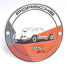 NEW Genuine PORSCHE RS 2.7 collection édition limitée Calandre Grill Badge