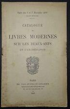 Catalogue de livres moderne sur les Beaux-Arts et l'Archéologie / 1896