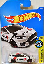 HOT WHEELS 2017 HW SPEED GRAPHICS FORD FOCUS RS #8/10 WHITE