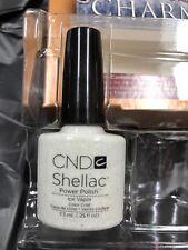 """CND SHELLAC """"ICE VAPOR"""" Silver GLITTER  UV Gel Nail Polish 14+ day Wear LTD"""