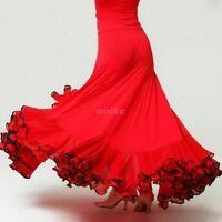 Latin Salsa Flamenco Ballroom Dance Dress Modern tango Waltz Dancewear Skirt N84