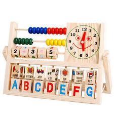 Children Baby Kids Learning Developmental Versatile Flap Abacus Wooden Toys