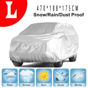 Gray Full Car Cover Breathable Anti Dust UV Rain Snow SUV Van Truck Universal