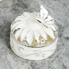 Sophia Silberüberzug & Epoxid Blumen Schmuckkästchen