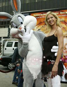 Easter bugs Bunny Rabbit fancy Mascot Cartoon Costume Adult  Fancy Party