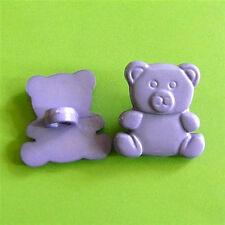 20 Bear Children Animal Kid Novelty Craft Sewing Buttons Violet K707