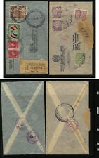 Paraguay   2  nice registered covers     MS1015