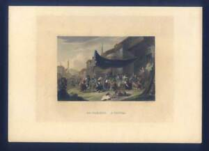 Volksfest-Musik-Tanz-Dudelsack-Bagpipes - kol. Stahlstich 1850