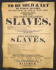 Slave Auction Poster, 1829 repro, slavery, wanted