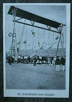 LPZ) Blatt 12. Deutsches Turnfest Leipzig 1913 Sechskampf Hangeln Turngerät ++