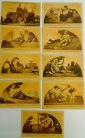 Antique / Vintage Post Cards c. 1900's Iowa State Capitol Mural ART Lot Of 9