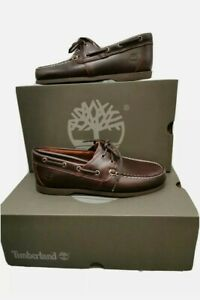 Timberland Classic 2 Eye Dark Brown Boat Cedar Boat Shoes Uk 7.5 Eu 41.5