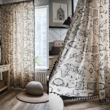 1 Panel Curtain Map Printed Window Blackout Living Room Bedroom Drapes Curtain